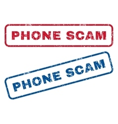 Phone Scam Rubber Stamps vector