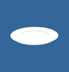 plate isolated kitchen utensils on blue background vector image
