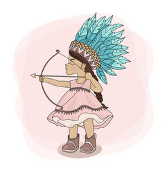 Pocahontas hunt indian princess hero vector