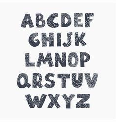 Positive black and white alphabet for children vector