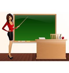 pretty good teacher board Pointer vector image