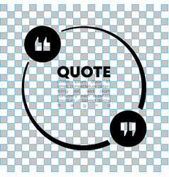 Quote speech bubble template quotes form speech vector
