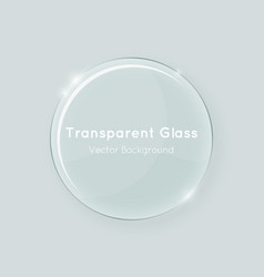 round glass vector image