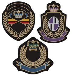 royal badge vector image