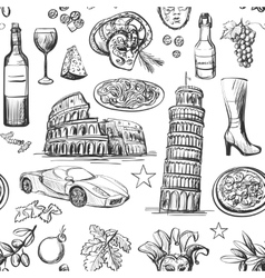 Seamless pattern of Italy vector image