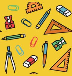 Seamless pattern school education 2 vector