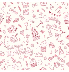 Seamless pattern with Birthday elements Birthday vector image