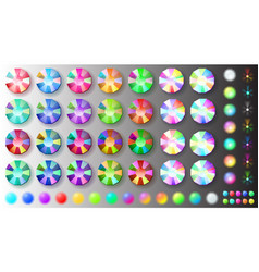 set of rhinestones vector image