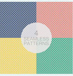 set polka dot seamless pattern vector image