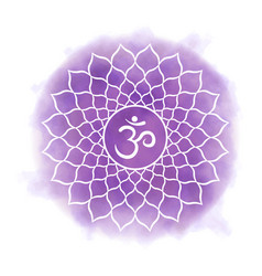 seventh crown chakra - sahasrara vector image