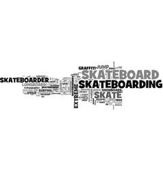 skateboard word cloud concept vector image