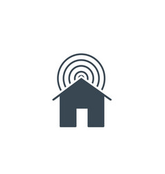 smart home internet house with wifi stock vector image