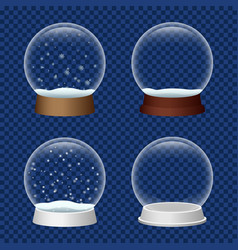 snowglobe icon set realistic style vector image