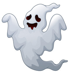 Spooky halloween ghost vector