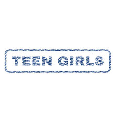 Teen girls textile stamp vector