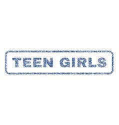Teen girls textile stamp vector