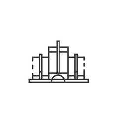 Thin line detroit landmark icon vector