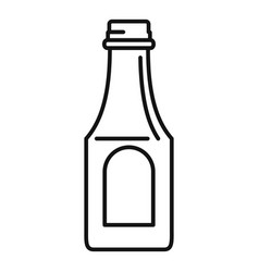Tomato ketchup bottle icon outline style vector