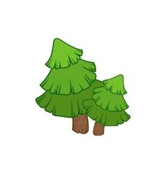 Two Fir Trees vector
