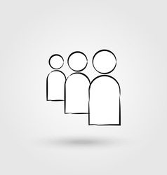 User flat icon vector image