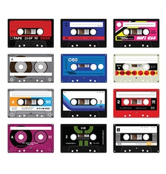 Vintage cassette tapes vol 5 vector image