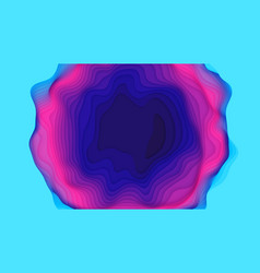 Violet to blue paper layers 3d abstract gradient vector