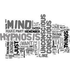 What is hypnosis text word cloud concept vector