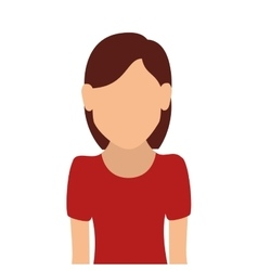 Woman girl female hair person face head vector