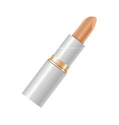 elegant beige lipstick in beige color isolated on vector image vector image