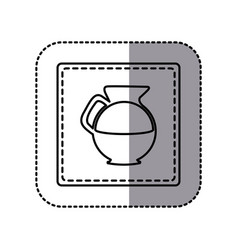 figure emblem sticker water pitcher icon vector image
