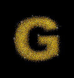 gold dust font type letter g vector image