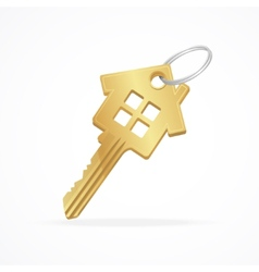 House key isolated on white vector image