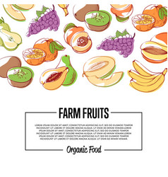 natural eco farming poster vector image