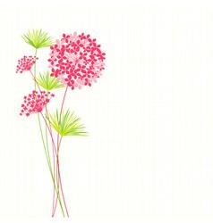 Springtime hydrangea flower vector