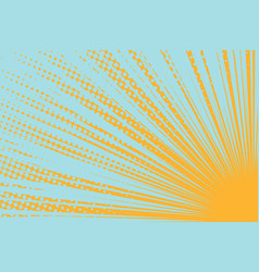 yellow sun on a blue background vector image vector image