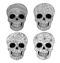 Ornament skull set vector image vector image