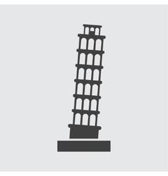 Pisa Tower icon vector image