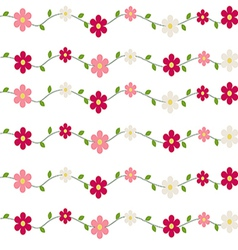 Seamless pattern flowers and leaves vector image vector image