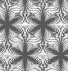 Slim gray striped hexagons forming black flowers vector image