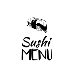 Sushi menu card design template vector