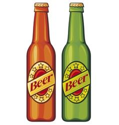 beer beer bottles vector image vector image