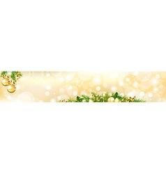 Christmas header vector
