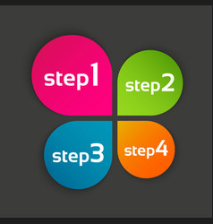 colored leaf clover with four steps vector image