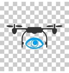 Eye spy drone icon vector