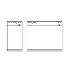 mobile and desktop browser mockup set vector image vector image