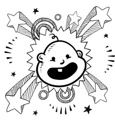 New baby vector image