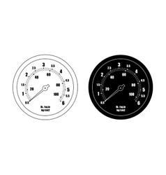 Pressure gauge bar icon Contour silhouette vector image vector image