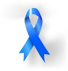 Prostate cancer awareness blue ribbon poster vector image