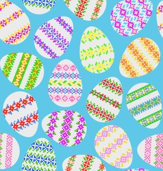 Seamless texture of Easter eggs vector image