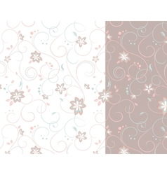 Two-colored background of flowers vector image